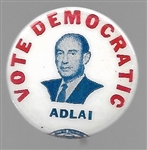 Adlai Stevenson Vote Democratic