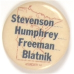 Stevenson, Humphrey, Freeman and Blatnik Minnesota Coattail