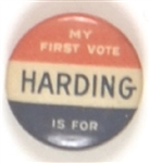 My First Vote for Harding