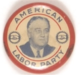 FDR American Labor Party New York Red Border Litho