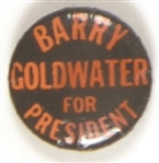 Goldwater Black and Orange Celluloid