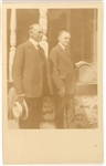 Calvin Coolidge and Father Postcard
