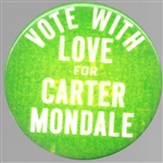 Vote with Love for Carter-Mondale