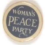 Woman's Peace Party World War I Pin