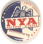 National Youth Administration Defense Worker