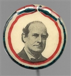 William Jennings Bryan Classic Early Celluloid Design Pin