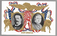 Taft-Sherman Our Choice Embossed Postcard