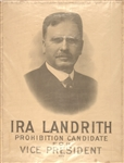 Ira Landrith 1916 Prohibition Party Candidate for Vice President