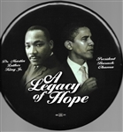 Obama and King a Legacy of Hope 9 Inch Celluloid