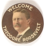 Welcome Theodore Roosevelt Colorful Celluloid