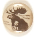Theodore Roosevelt Man of the Hour Bull Moose Pin