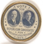 Coolidge, Dawes Vote for the Republican Candidates