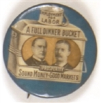 McKinley-TR Blue Dinner Bucket With Pince Nez String
