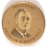 Franklin Roosevelt Gold Background