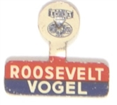 Roosevelt and Vogel Scarce North Dakota Tab