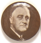 Franklin Roosevelt Sepia Celluloid