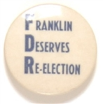 FDR Franklin Deserves Re-Election