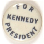 Kennedy for President Blue, White Celluloid