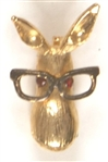 Goldwater Donkey With Glasses