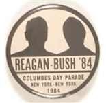 Reagan-Bush Rare Columbus Day Parade Shadow Pin