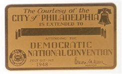 Truman 1948 Convention Metal Card