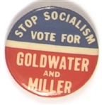 Stop Socialism Vote for Goldwater-Miller