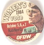Ferraro Oregon Womens Vote Labor Pin