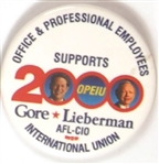 Gore-Lieberman OPEIU Labor Pin