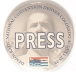 Obama Convention Press Badge