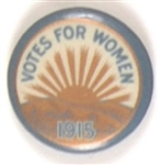 Votes for Women Rising Sun 1915 Celluloid