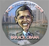 Obama for President 2008 Chicago Pin