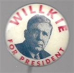 Willkie Red, White and Blue Picture Pin