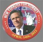 New Yorkers for Romney