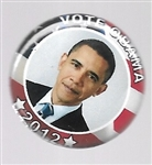 Vote Obama 2012 Smaller Size Pin