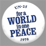 A World in One Peace 1970 Cause Pin