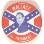 Wallace Confederate Battle Flag Celluloid