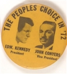 Kennedy and Conyers 1972 Celluloid