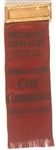 President Coolidge 1928 Superior, Wisc. Ribbon