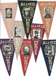 Collection of 27 World War I Heroes Pennants