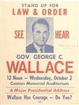 George Wallace Canton, Ohio Poster