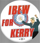 IBEW for John Kerry 9-Inch Celluloid