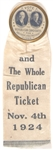 Coolidge-Dawes and the Whole Republican Ticket