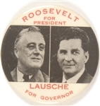 Roosevelt and Lausche Ohio Coattail Red Letter Version