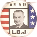 Win With LBJ Large Stars and Stripes Pin