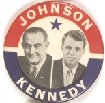 Lyndon Johnson, Robert Kennedy 1964 Potential Democratic Ticket Pin