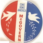 McGovern Come Home America Dove and Bomber Vietnam War Pin