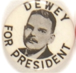 Dewey for President Black, White Picture Pin