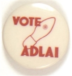 Stevenson, Vote Adlai Hole in Shoe Celluloid