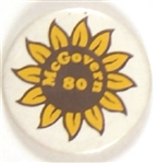 McGovern 1980 Flower Pin
