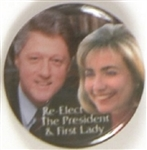 Bill and Hillary Clinton Color Celluloid